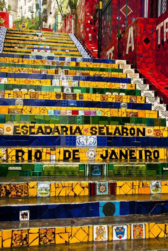 Rio de Janeiro, colorful stairs in Lapa