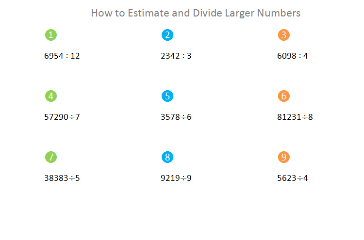 Bro and Sis Math Club: How to Estimate and Divide larger