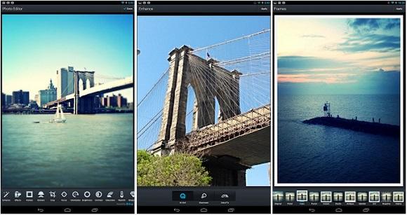 edit foto liburan travel melalui ponsel
