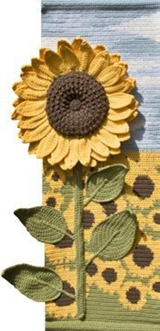 szydelkowe kwiatowe obrazy