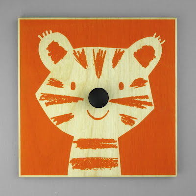 Hand-printed Hedgehog character garment hanger from Lisa Jones Studio