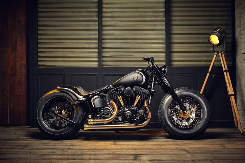 Custom rough crafts crowned stallion-based Harley-Davidson Softail slim