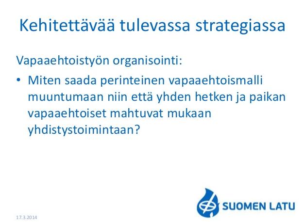 Vapaaehtoisuus Suomen Ladussa 2014