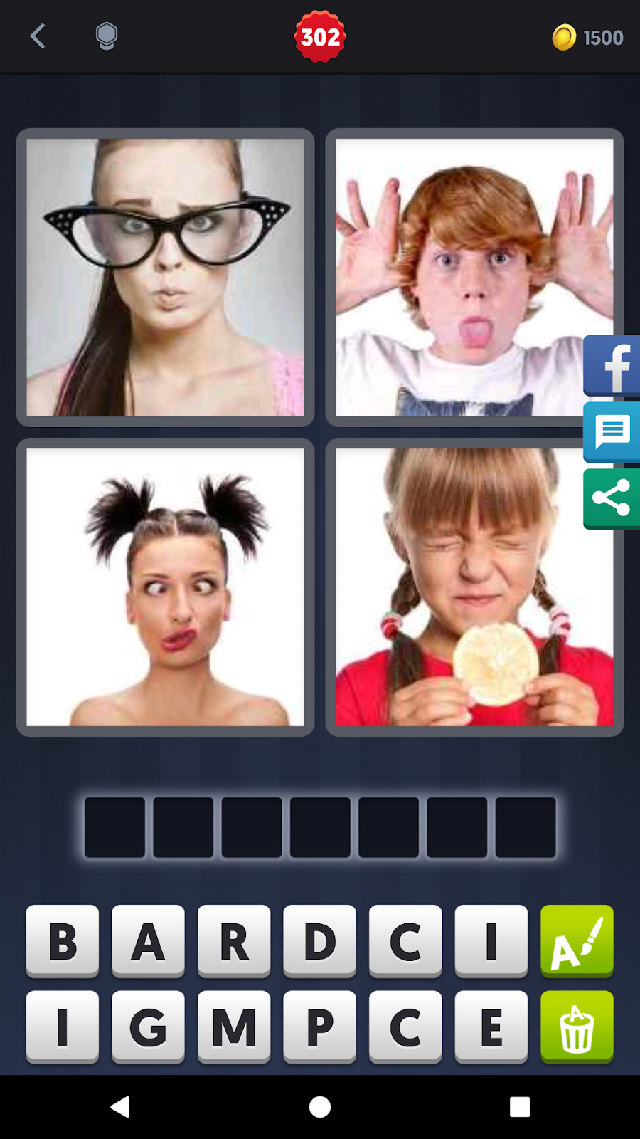 4 Pics 1 Word Answers Solutions Level 302 Grimace