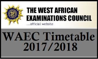 Complete Waec Time Table 2016 In Pdf