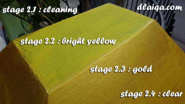 Aplikasi Cat Warna Emas (Gold) Pada Tembok