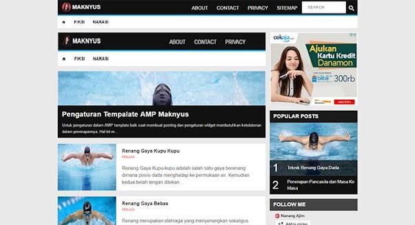 Free Blogger Template AMP - Maknyus