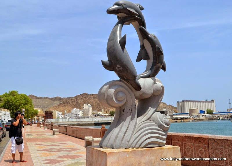 one of the many fish statues along Mutrah Corchiche