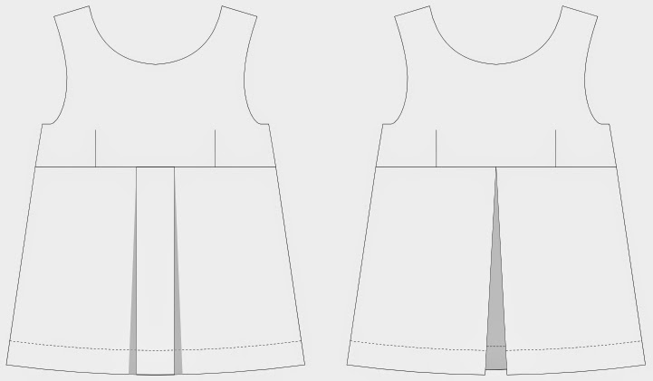 Imaginesque: Sewing: Adding a Pleat to the Top Pattern
