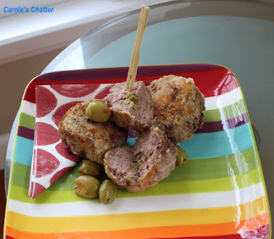 Carole's Chatter: Olive Stuffed Meatballs