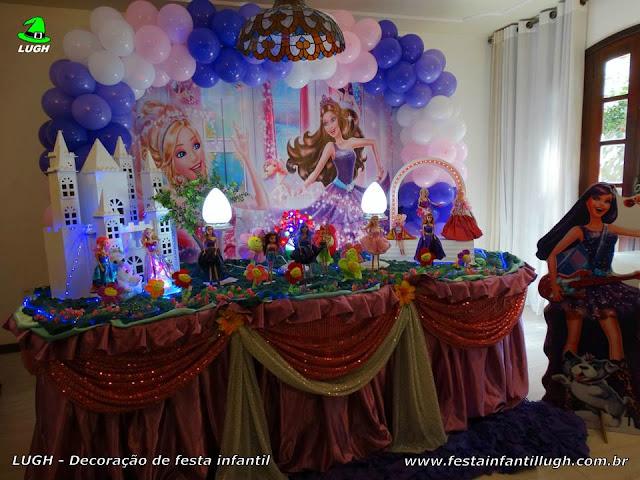 Decoração infantil tema Barbie Pop Star - Tradicional Luxo