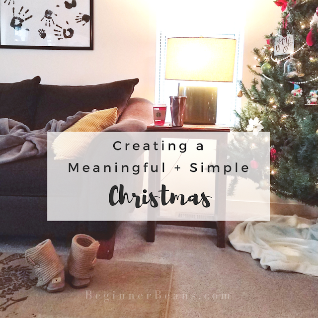 Christmas isn't about doing All The Things. Instead, choose the one, two, or three that are meaningful to you and your family and make space to do those. Then, give yourself permission to let go of the rest acknowledging that they may be good ideas, even great ideas, for someone else, but not for you. The end result will be a focused, even relaxed (can you imagine?!), Christmas season.