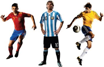 ... o goleiro Petr Čech  os argentinos Lionel Messi e Juan Román Riquelme   os holandeses Robin Van Persie e Arjen Robben  os franceses Djibril Cissé edd5936be30fa