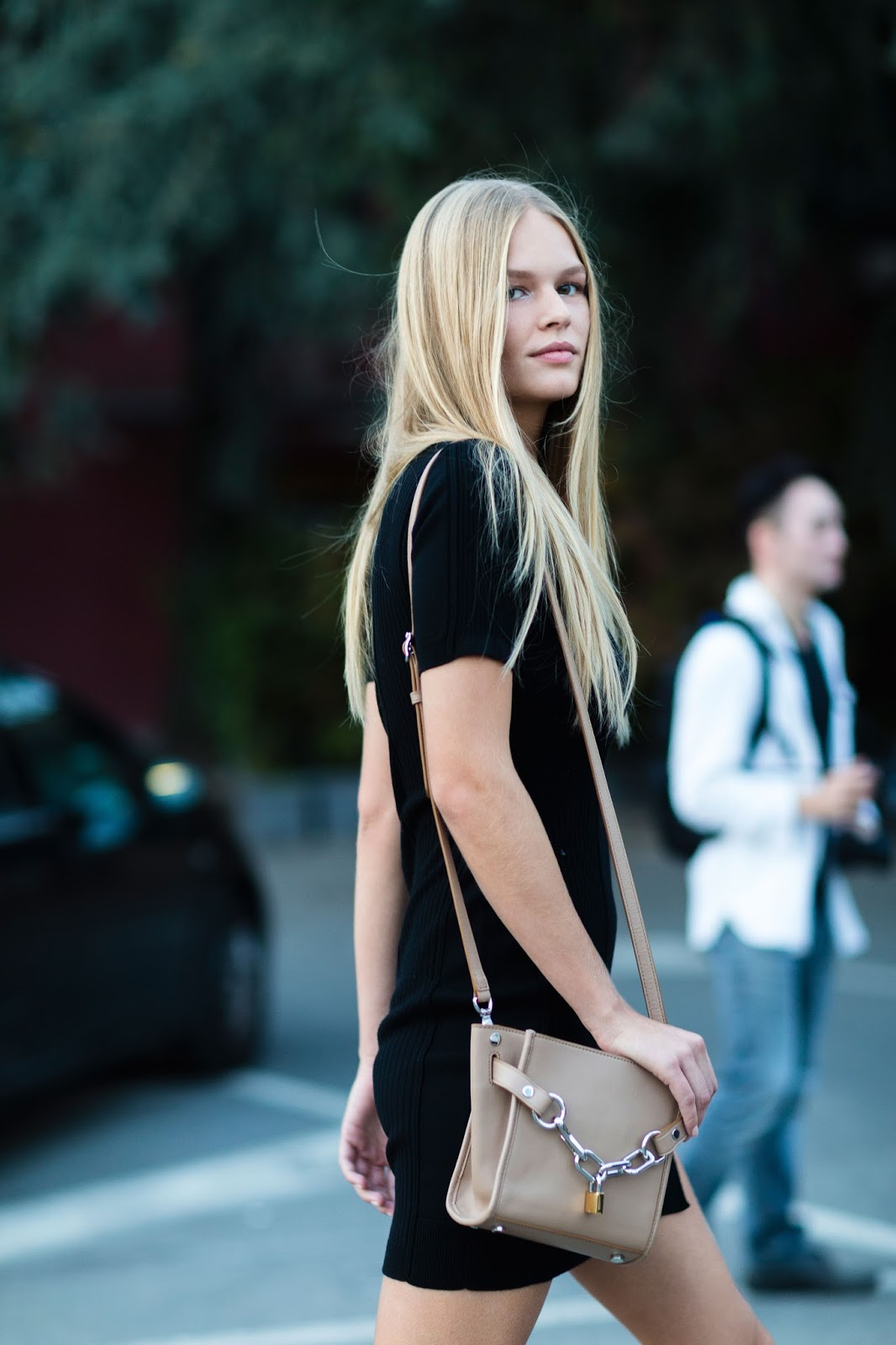 Street Style: Anna Ewers After Versace in Milan