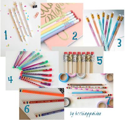 Personalizziamo matite e penne
