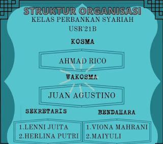 Contoh Struktur pengurus organisasi