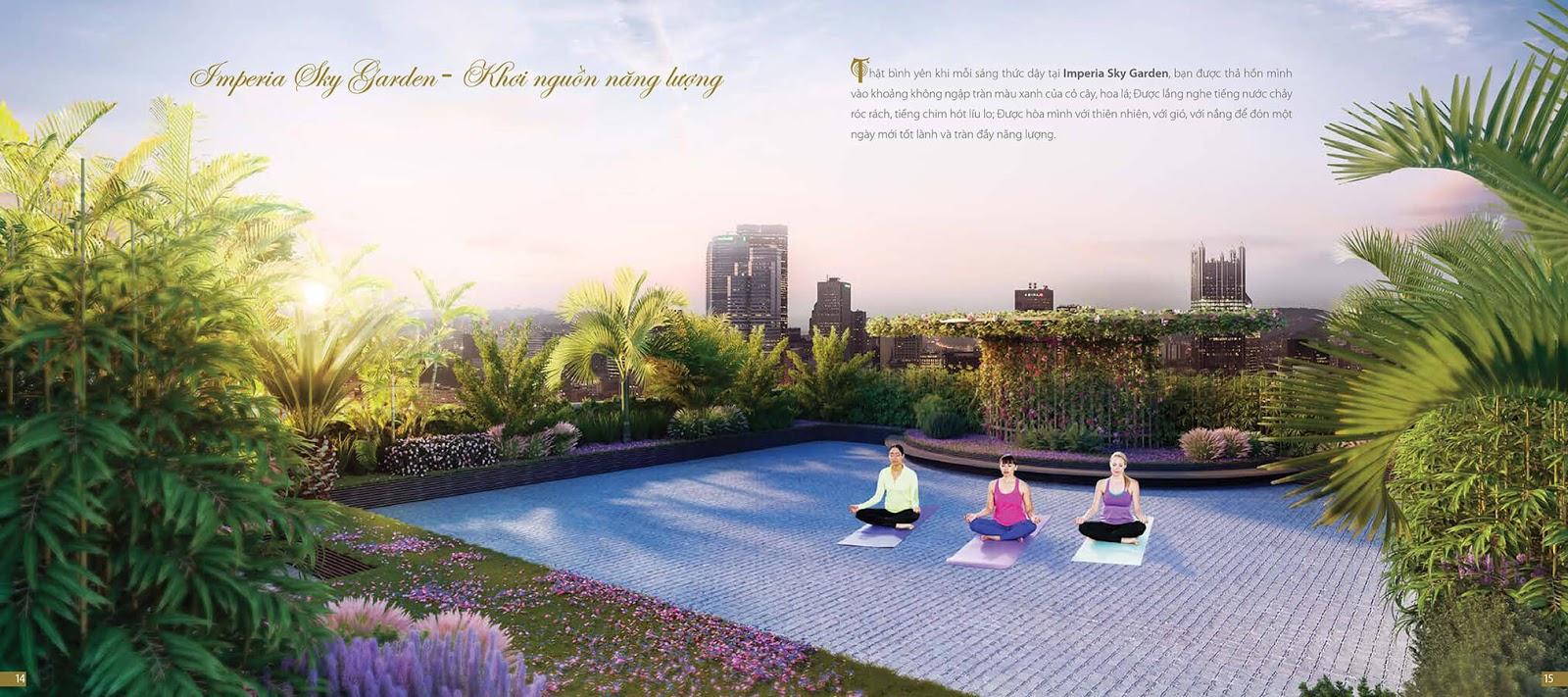 Hệ thống tiện ích cộng đồng tại dự án chung cư Imperia Sky Garden