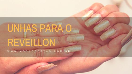 Unhas para o Reveilon: dourado e glitter