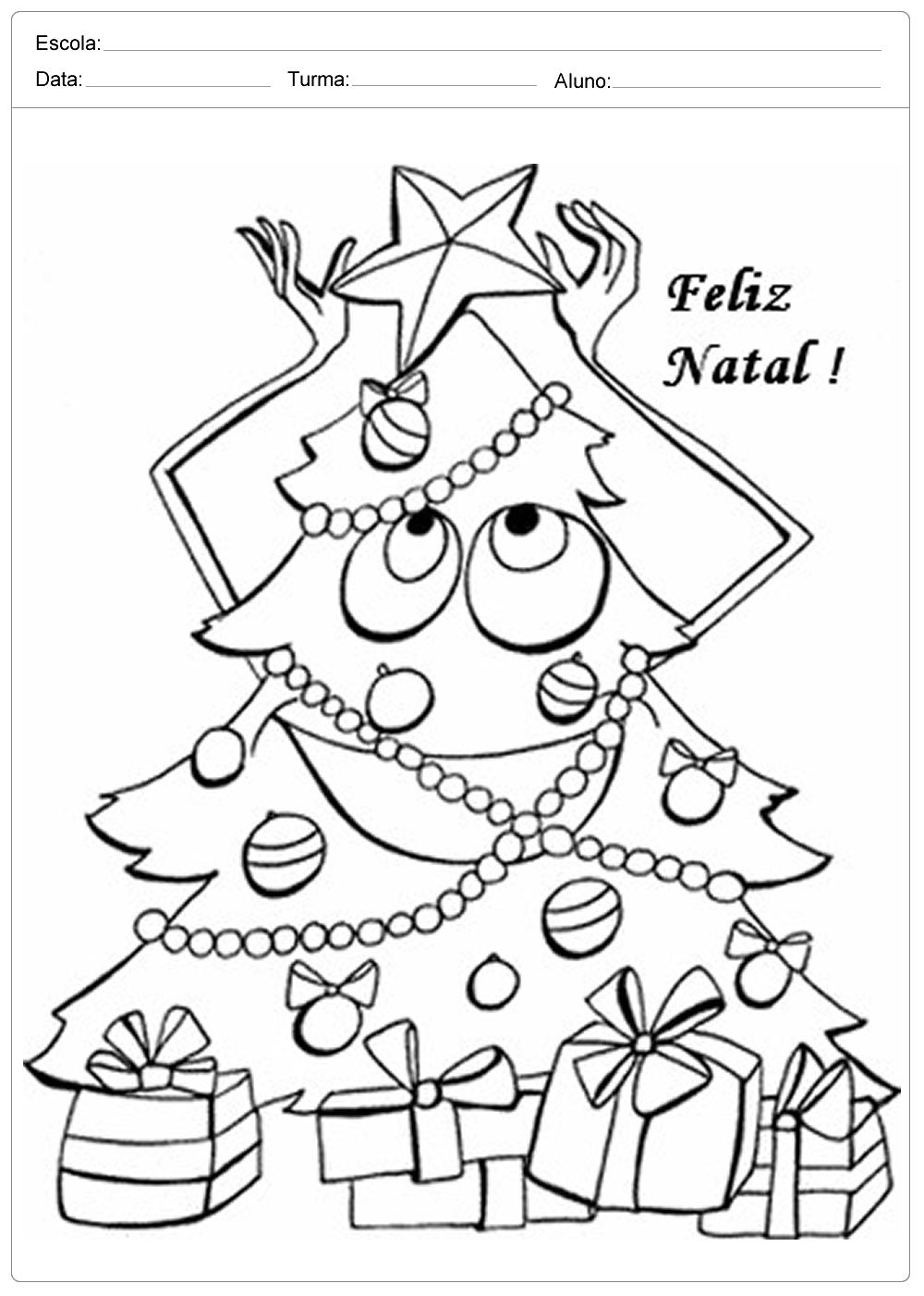 Desenhos Para Imprimir E Colorir Sobre O Natal So Escola