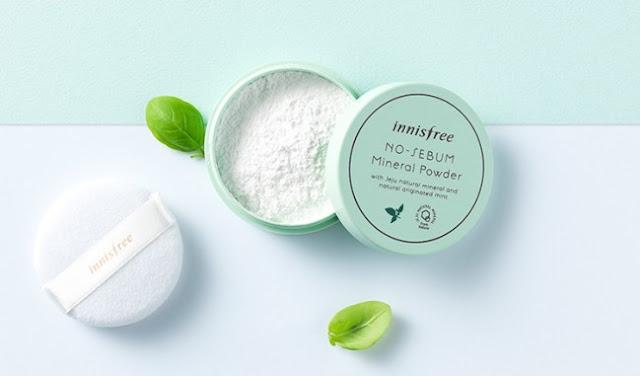 đánh giá review phấn phủ kiềm dầu innisfree no sebum mineral powder