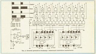 Schemat generatora wiodącego i oktawowych dzielników częstotliwości, Radioelektronik 11/89