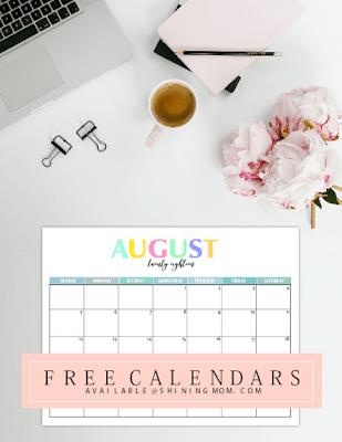 free printable calendars 2018