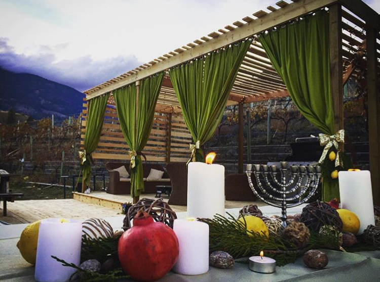 Elegant patio sukkah in the mountains for Sukkot | Land of Honey