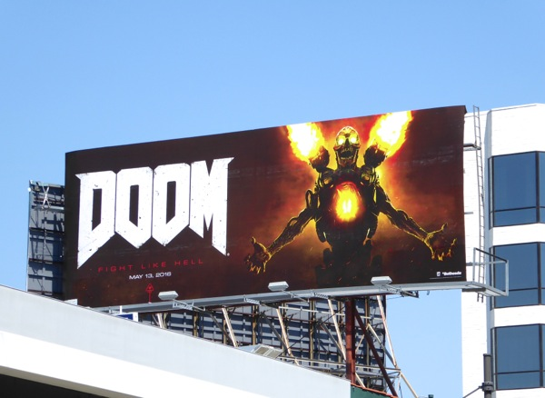 Doom video game billboard