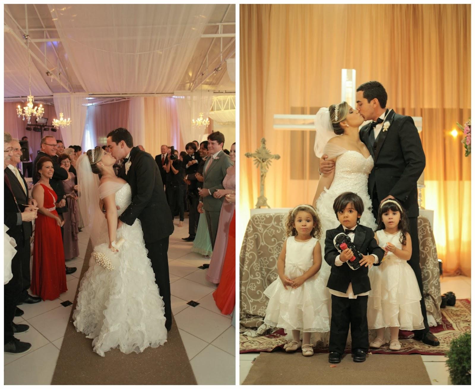 cerimonia-saida-dos-noivos-beijo-criancas