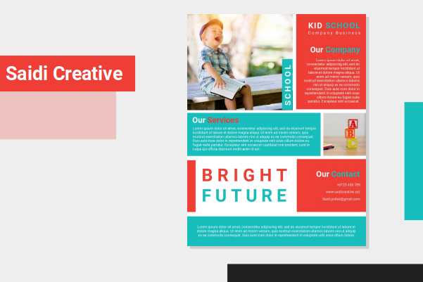 School Flyer Template Design Free Download on Microsoft Word Fully Editable File
