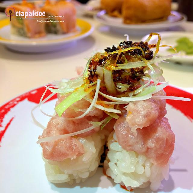 Tuna Tataki Nigiri from Genki Sushi