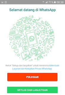 Buat akun baru di Whatsapp 2 APK