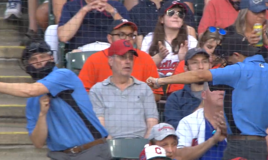 Cleveland Indians fans dress as umpires, call strikeouts 7/30/2019