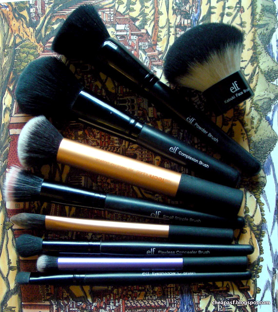 My cheap favorites: makeup brushes under $10