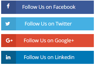 Horizontal Social icons