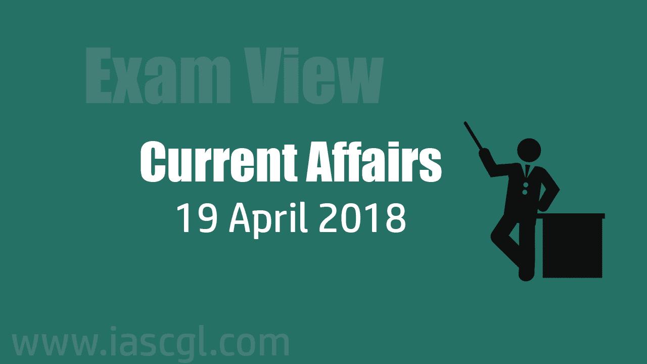 Current Affair 19 April 2018