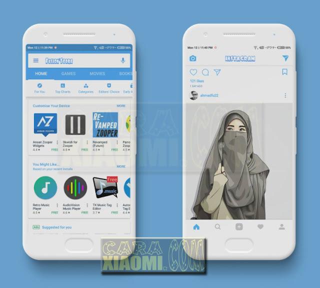 Download MIUI Thema Fusion Flat Final Mtz For Xiaomi V8 / V9 Themes