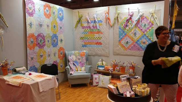 Valori Wells' booth at Quilt Market
