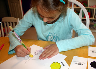 "To practice being honest and fair, Tessa and I played a flower friends drawing game where we took turns drawing and coloring parts of flowers. Tessa tends to be a poor sport while playing games. She really wanted to sneak the pink color card but I reminded her that wouldn't be honest nor fair. She instantly agreed. I was surprised how big an impact ""Lupe's Story"" made in her overall sportsmanship. Granted, this was a very low-key game, but I could tell a difference in her actions and attitude."