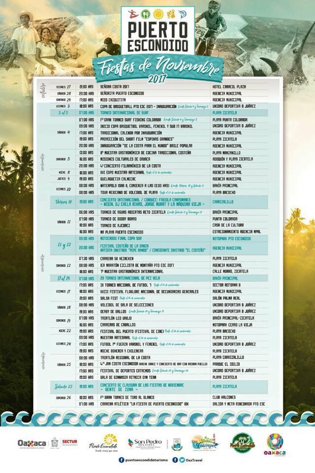 calendario fiestas puerto escondido 2017