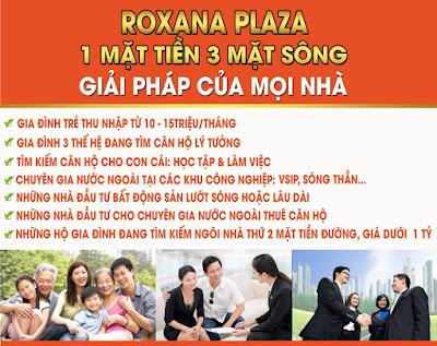 Căn hộ Roxana Plaza tọa lạc ngay mặt tiền quốc lộ 13