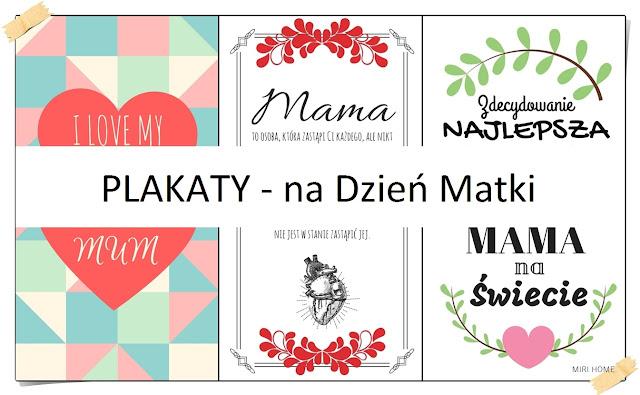 PLAKATY DO DRUKU - Dzień Matki