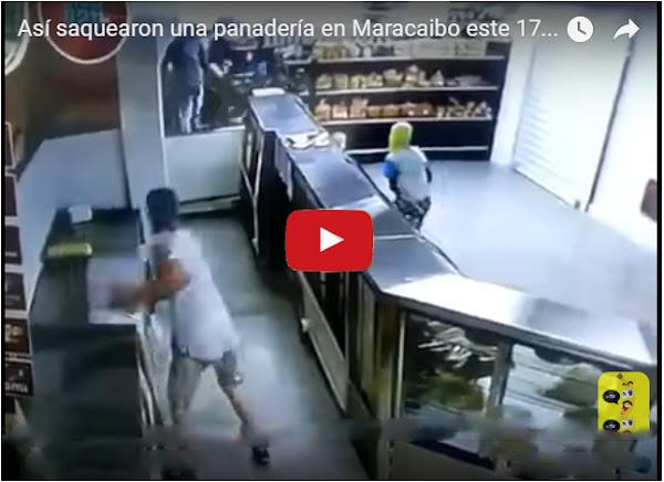 Vídeo interno del saqueo a panadería en Maracaibo