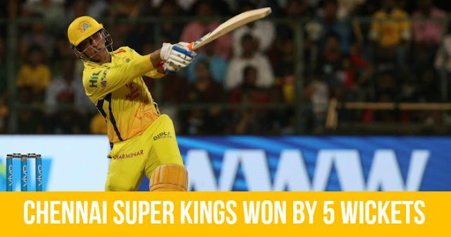 Chennai Super Kings won by 5 Wickets