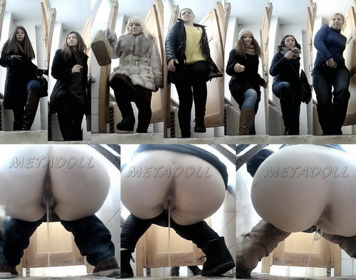 VB Piss 1766-1775 (College girls caught menstruating on secret toilet cams)