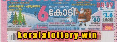 Kerala Lottery Bumper  Results Xmas New Year on 24-01-2017