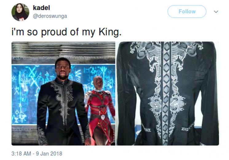 Baju koko Black Panther 'raja Wakanda' yang semakin banyak