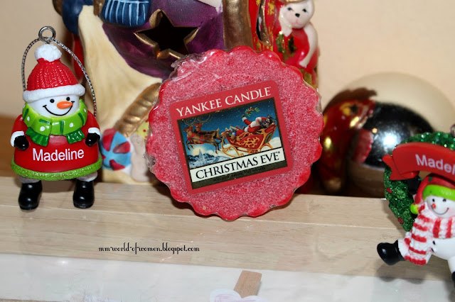 Christams Eve Yankee Candle plus życzenia dla WAS.