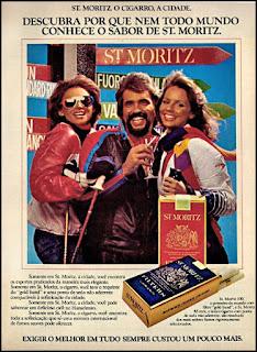 propaganda cigarros St. Moritz - 1977, cigarros anos 70, cigarros década de 70, Oswaldo Hernandez,