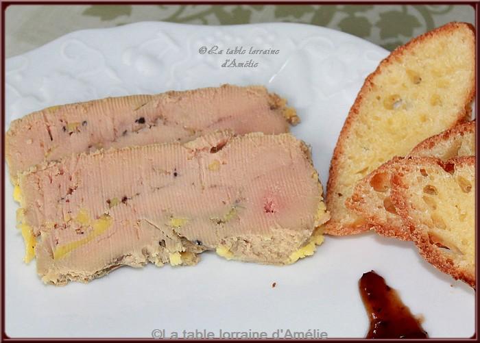 La table lorraine d 39 amelie foie gras l 39 armagnac et pinot gris - Temperature cuisson foie gras ...